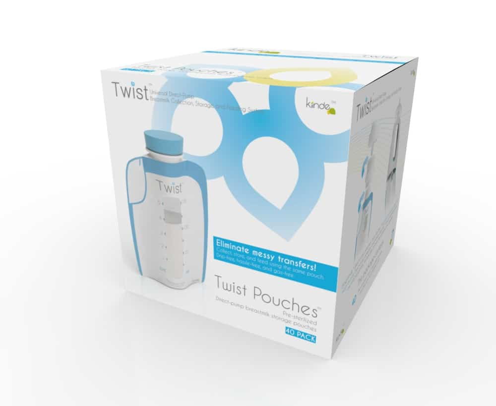 Kiinde Twist Pouches Direct-pump, Twist-cap Breastmilk Storage Bags ...
