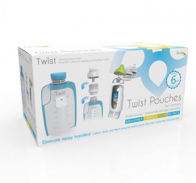 Kiinde Twist Pouches Direct Pump Twist Cap Breastmilk