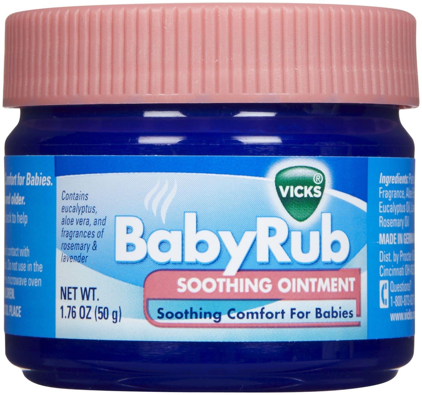 Vicks Babyrub Soothing Ointment 1 76 Oz Babymama