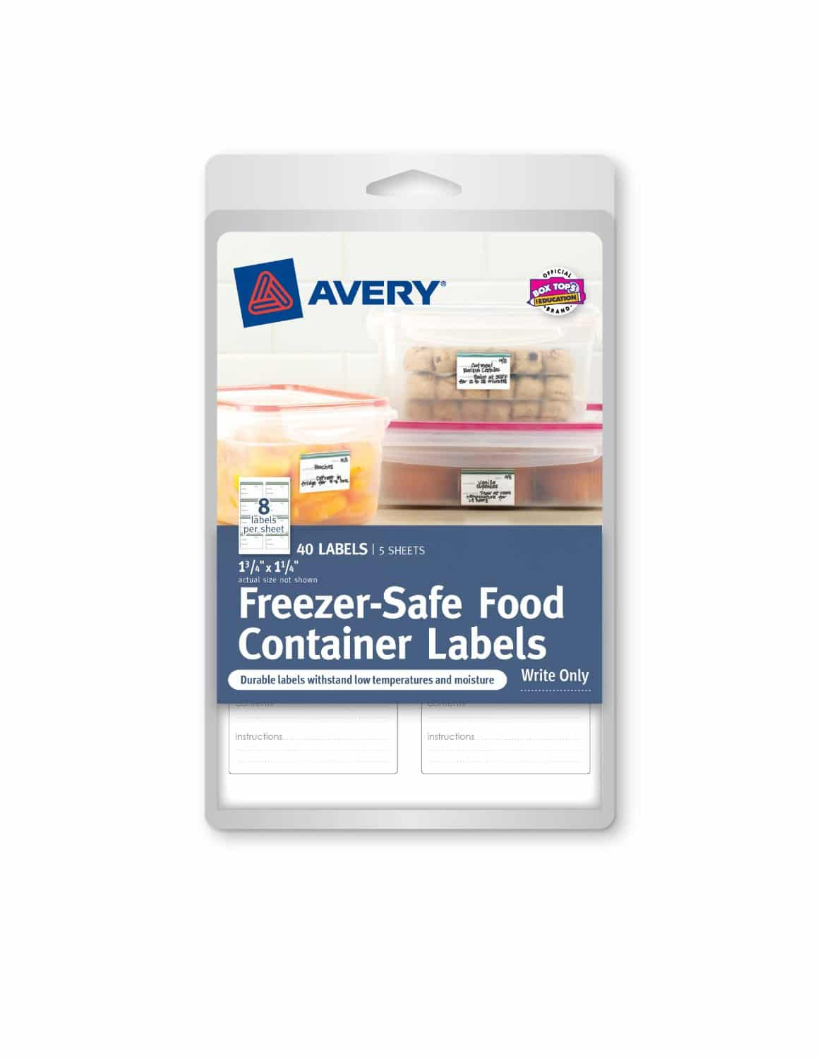 Avery Freezer Safe Food Container Labels Babymama