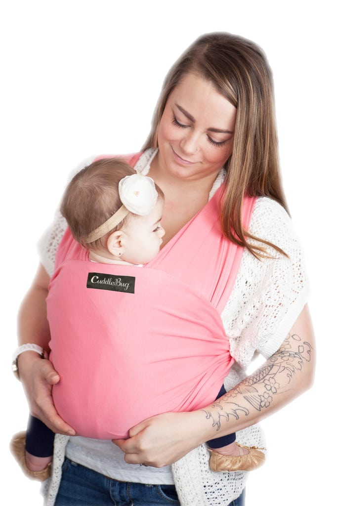 Cuddlebug Baby Wrap Carrier Frosted Pomegranate Babymama