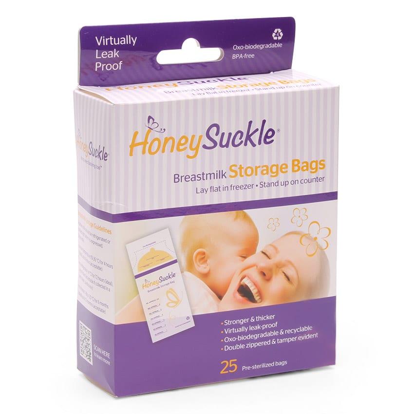 Honeysuckle Breastmilk Storage Bags 25s Biodegradable