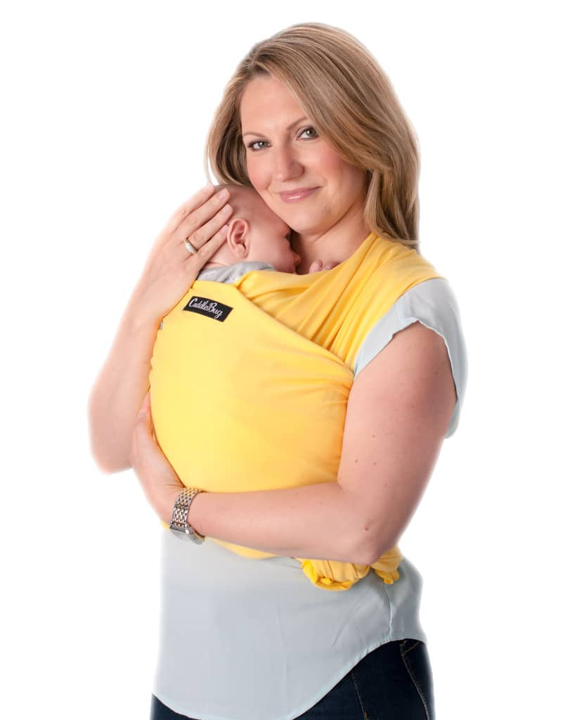Cuddlebug Baby Wrap Carrier Yellow Babymama