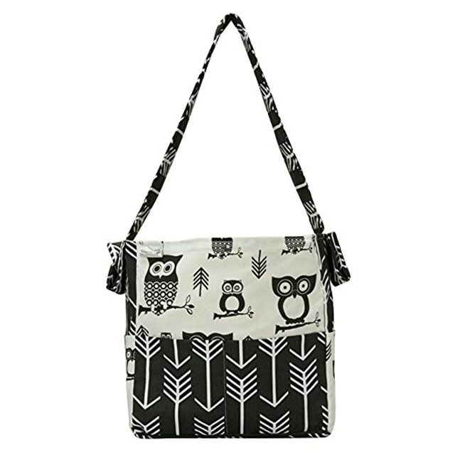 Brownie Gifts Diaper Bag Black And White Owl