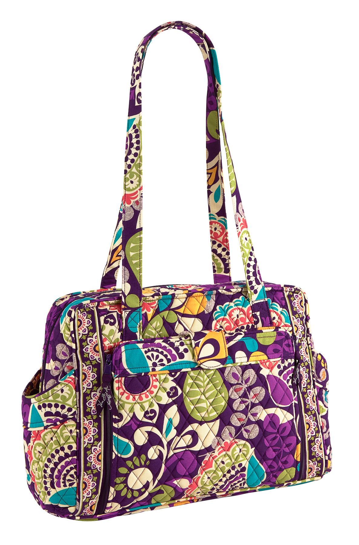 Vera Bradley Make A Change Baby Bag Plum Crazy Babymama