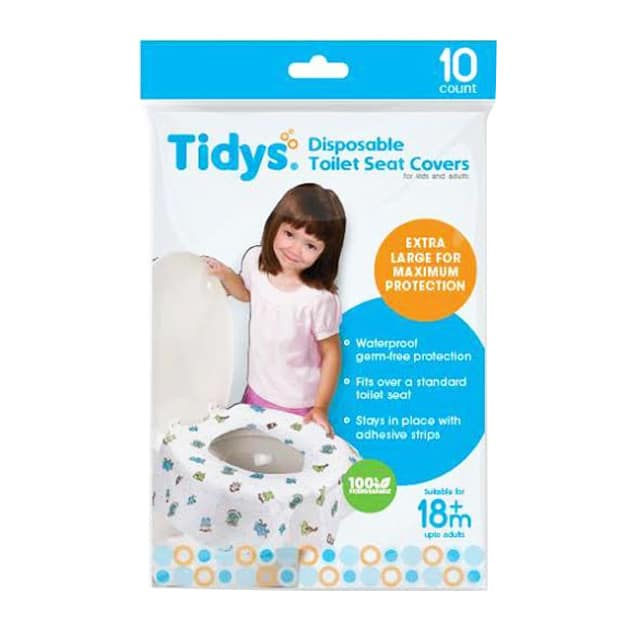 Tidys Disposable Toilet Seat Covers 10 S For Kids And Adults