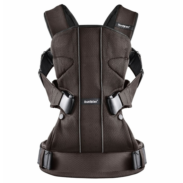 Baby Bjorn Front Back Baby Carrier One Mesh Brown Black