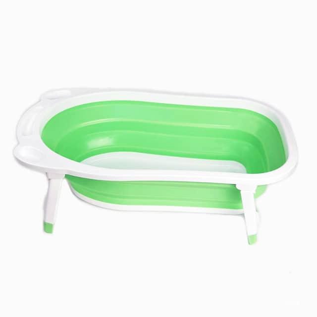 Babyzone Baby Foldable Bath Tub - Green - Babymama
