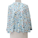 Lilymoms Breastfeeding Wrap - Feathered Friends Blue on Blue