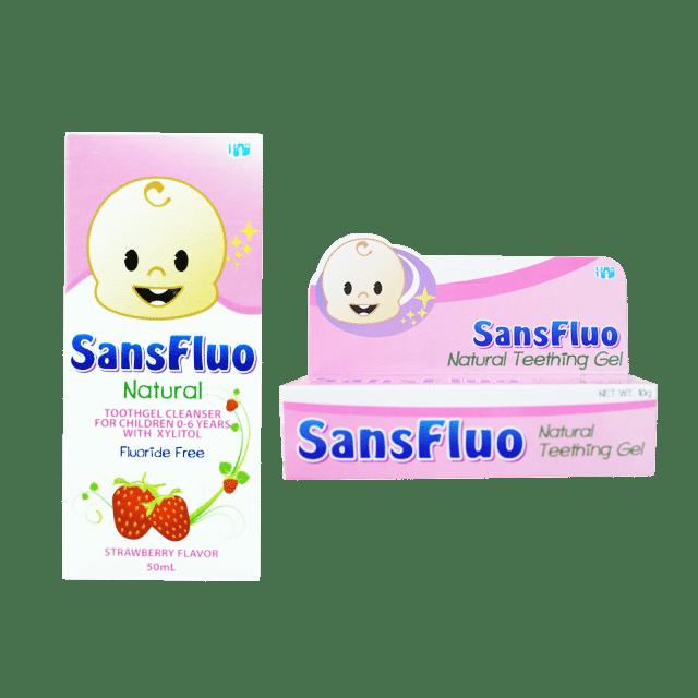 Sansfluo Toothgel Strawberry 1pc Teething Gel 10g Babymama