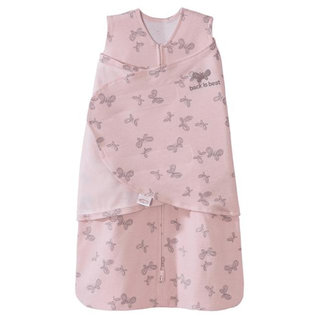 Halo SleepSack Swaddle - Pink Butterfly Scribble Print NB