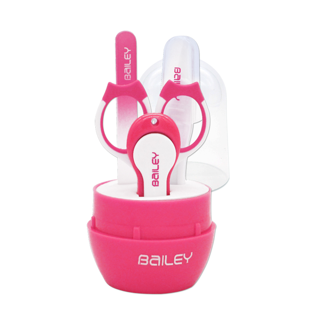 Bailey Nail Clipper Set & Tweezer Pink - Babymama