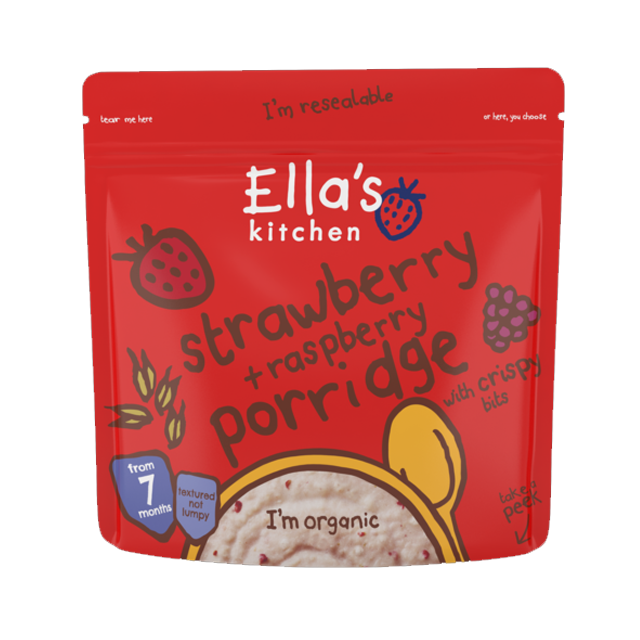 ellas kitchen strawberry raspberry porridge with crispy bits 175g expiry date april 2018 babymama - Ellas Kitchen