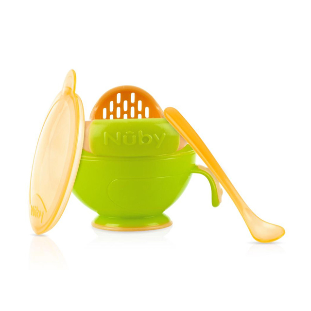 Nuby Garden Fresh Mash And Feed Easy Mash Bowl Cups, Dishes & Utensils