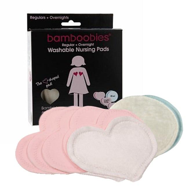 96bec5c91c Bamboobies Nursing Pads Ultra Thin + Overnights (6 pads + 2 overnight )  Light Pink  Light Blue Damaged Box - Babymama