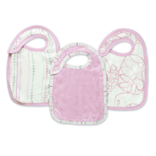 Aden and Anais Silky Soft Snap Bib 3 Pack