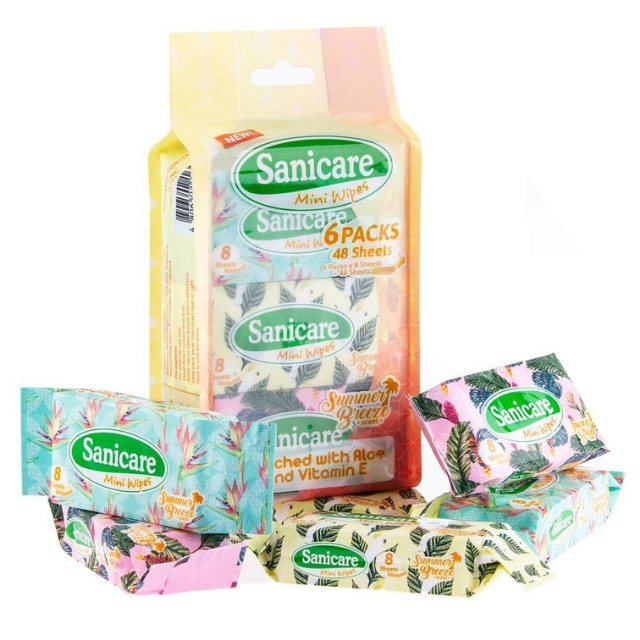 Sanicare Mini Wipes 6packs 8s Babymama